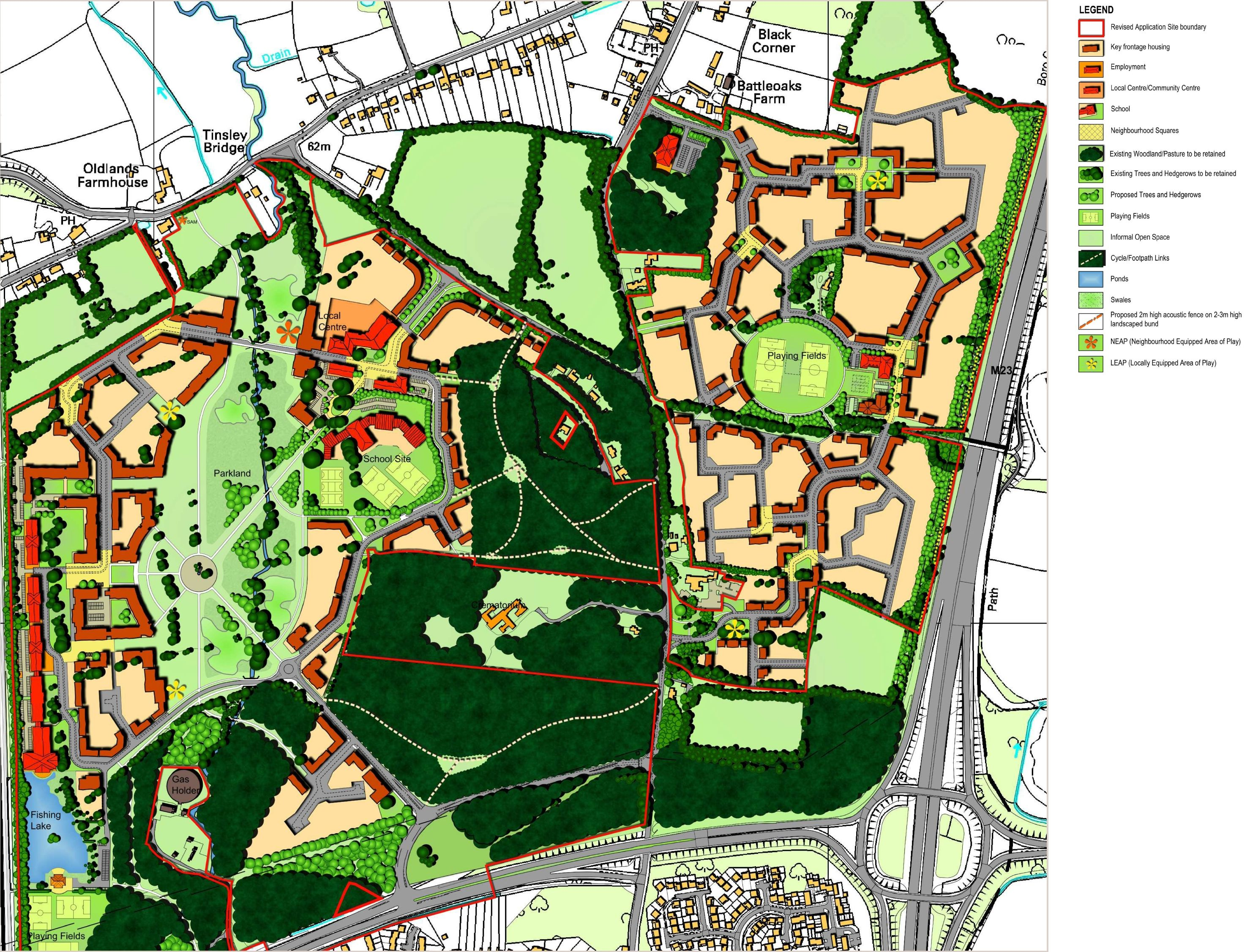 Worth Pound Hill and Maidenbower – Forge Wood Site Plan